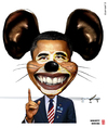 Cartoon: Obama - Mighty Mouse (small) by zenundsenf tagged andi,walter,barak,obama,cartoon,composing,karikatur,nsa,snowden,edward,wikileaks,zenf,zensenf,zenundsenf,mighty,mouse,micky