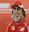 Cartoon: Fernando Alonso (small) by Darrell tagged fernando,alonso,f1