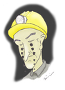 Cartoon: COAL MINER (small) by huseyinalparslan tagged coal,miner,collier,hewer
