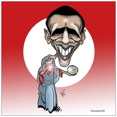 Cartoon: obamaria II (medium) by ELCHICOTRISTE tagged obama