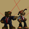Cartoon: Detective Teddy (small) by Abe tagged detective,teddy,bear,dog,hound,fluffy,cute,toy,child,cartoon,book