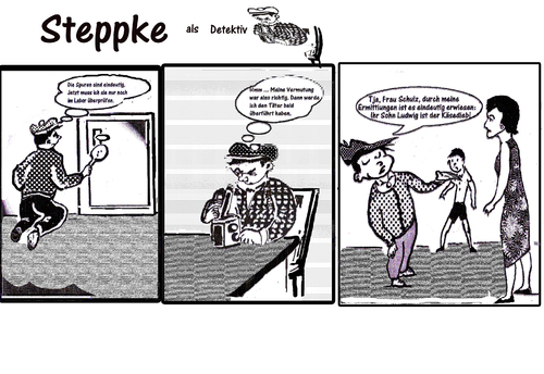 Cartoon: Steppke als Detektiv (medium) by arno tagged detektiv