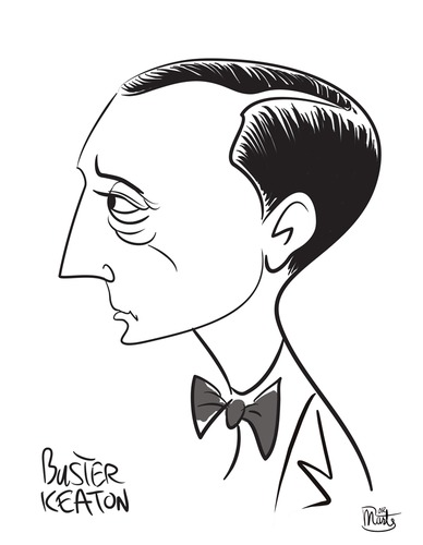 Cartoon: Buster Keaton (medium) by Martynas Juchnevicius tagged comedy,film,comic,actor,movies,keaton,buster,caricature