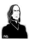 Cartoon: Alan Rickman (small) by Martynas Juchnevicius tagged alan,rickman,actor,digital,art,caricature,harry,potter