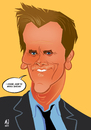 Cartoon: Bacon (small) by Martynas Juchnevicius tagged kevin,bacon,cartoon,art,actor,celebrity,famous