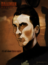 Cartoon: Christian Bale (small) by Martynas Juchnevicius tagged christian,bale,actor,star,film,movie,caricature