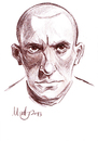 Cartoon: Mayakovsky (small) by Martynas Juchnevicius tagged sketch,caricature,pencil,mayakovsky,writer,poet,russian,literature,soviet,futurist,drawing