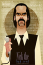 Cartoon: Nick Cave (small) by Martynas Juchnevicius tagged nick,cave,vector,caricature,singer