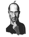 Cartoon: Steve Jobs (small) by Martynas Juchnevicius tagged steve,jobs,apple,macintosh,caricature,painting,digital