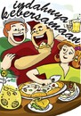 Cartoon: happy day (small) by tomandrug tagged pizza