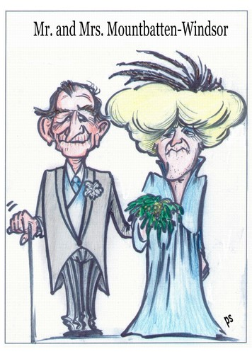 Cartoon: Mr. and Mrs. Mountbatten-Windsor (medium) by Peter Schnitzler tagged royal,highness