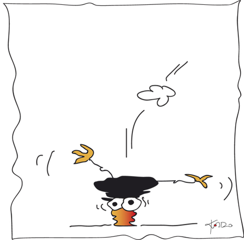 Cartoon: Die Kado Krähe (medium) by KADO tagged graz,styria,austria,kalcher,dominika,illustration,spass,humor,comic,cartoon,kadocartoons,kado,bird,animal,crow,krähe