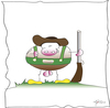 Cartoon: Herbert aus Tirol (small) by KADO tagged stier rinder kuh tirol kado kadocartoons cartoon comic humor spass illustration dominika kalcher austria styria graz