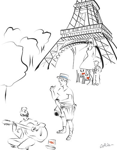 Cartoon: The Beauty of Paris (medium) by Dolie tagged paris