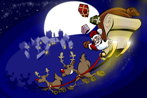 Cartoon: X-Mas (medium) by brazil80 tagged xmas,weihnachten,schlitten,weihnachtsmann