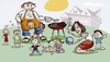 Cartoon: Großfamilie (small) by brazil80 tagged grill,grillen,barbeque,familie