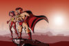 Cartoon: Superhelden (small) by brazil80 tagged superheld,comic,superhero