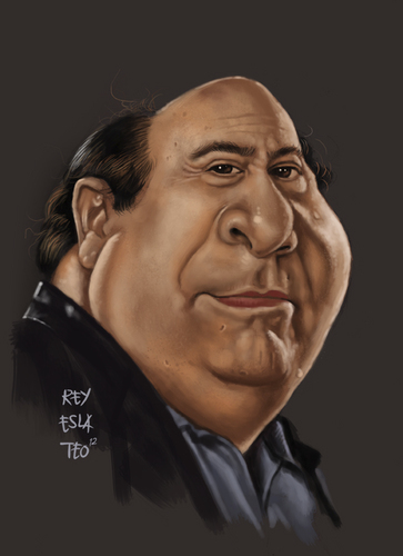 Cartoon: Danny DeVito Caricature (medium) by Rey Esla Teo tagged painting,digital,caricature