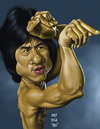 Cartoon: Jackie Chan (small) by Rey Esla Teo tagged caricature,portrait,digital,painting,jackie,chan