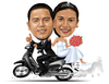 Cartoon: Jonathan Wedding (small) by Rey Esla Teo tagged wedding,caricature,portrait,digital,painting