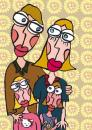 Cartoon: En famille (small) by Albin Christen tagged famille,personnages,love,amour,lunettes,family,
