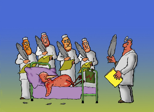 Cartoon: doctors (medium) by janjicveselin tagged doctors,pen,the,disease,hospital,experiments,bird
