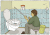 Cartoon: Hard Times (small) by badham tagged toilet,wc,kloh,toilette,angel,angeln,shit,angling,hard,badham