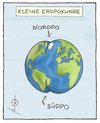 Cartoon: Kleine Erdpokunde (small) by badham tagged erde,geografie,natur,welt,world,po,nature,satire,badham