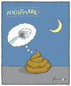Cartoon: Nightmare (small) by badham tagged albtraum,nightmare,scheiße,shit,scheisse,poop,badham
