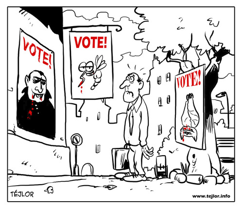 Cartoon: Vote (medium) by tejlor tagged vote