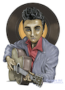 Cartoon: Elvis Presley (small) by DrCoragre tagged drawing,dibujo,caricatura,illustration,elvis,rock
