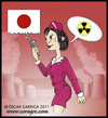 Cartoon: Japan 2011 (small) by DrCoragre tagged japan,drawing,illustration,digital,mixed,media,nuclear,disaster,alarm