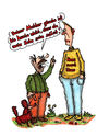 Cartoon: - (small) by noh tagged norbert,heugel,noh,aelziv,familie,sohn,vater