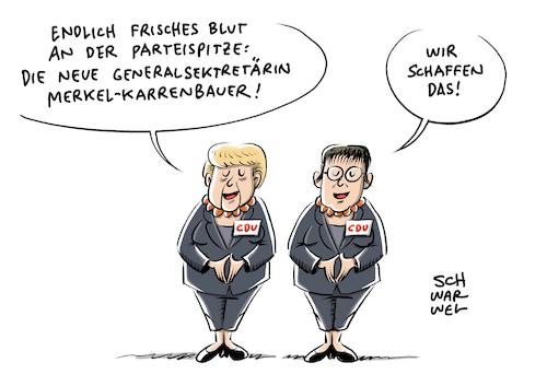 Merkel Kramp Karrenbauer