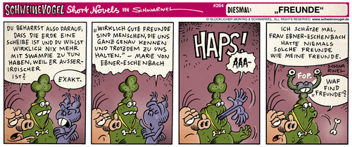 Cartoon: Schweinevogel (medium) by Schwarwel tagged schweinevogel,iron,doof,sid,pinkel,comic,comicstrip,schwarwel,schweinevogel,iron,doof,sid,pinkel,comic,comicstrip,schwarwel
