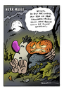 Cartoon: Halloween (small) by Schwarwel tagged halloween schwarwel cartoon witz witzig geist kuerbis herr mauli orange