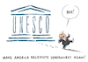 Cartoon: Unesco USA Trump (small) by Schwarwel tagged trump,donald,us,usa,amerika,president,präsident,make,america,great,again,unesco,politik,politiker,un,vereinte,nationen,antiisraelisch,karikatur,schwarwel