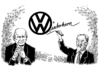 Cartoon: Volkswagen Piech Winterkorn (small) by Schwarwel tagged vw,altvater,piech,kampf,position,volkswagen,chef,karikatur,schwarwel