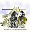 Cartoon: mountain gorillas (small) by Toonopia tagged computer