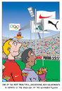 Cartoon: A Moving Momement (small) by etc tagged olympic,games,sports,flags,big,companies,money