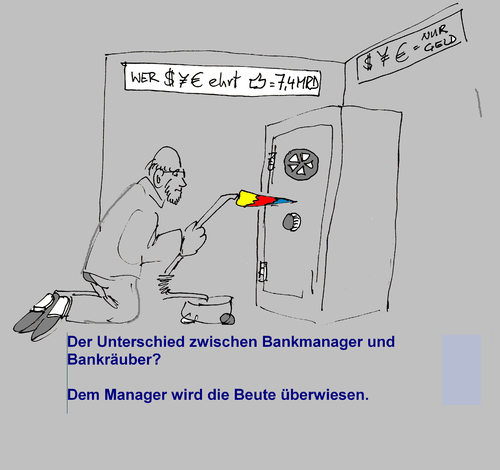 Cartoon: Bankraub (medium) by manfredw tagged bank,bankraub,tresor,diebstahl,geld,unrecht