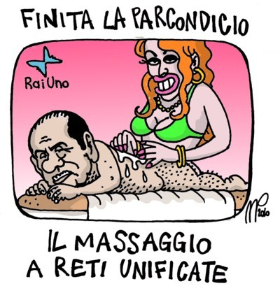 Cartoon: local elections in italy (medium) by emmeppi tagged italy,politics,berlusconi,media