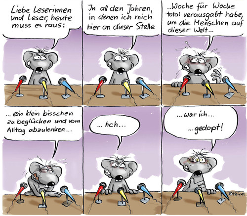 Cartoon: die Dopingbeichte (medium) by Ratte Ludwig tagged ratte,ludwig,doping,geständnis,outing