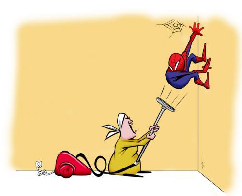 Cartoon: Spidey (medium) by tinotoons tagged spidey,