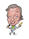 Cartoon: Karel Gott caricature (small) by tinotoons tagged gott,karel,czech,celebrity,singer,kaja,bozsky,slavik