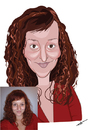 Cartoon: woman caricature (small) by tinotoons tagged caricature,woman,redhead
