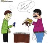 Cartoon: Döner mit viel Schaf. (small) by Butterfass tagged food