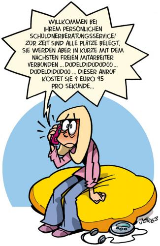 Cartoon: Schuldenberatung (medium) by Comiczeichner tagged handy,