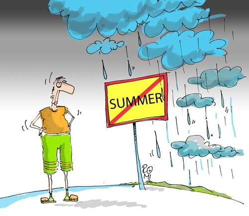 Cartoon: summer end (medium) by romi tagged summer,rain,cloud