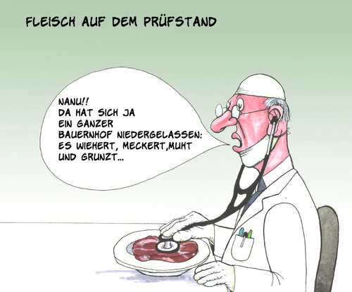 Cartoon: Fleischbeschau (medium) by bertkohl tagged ratespaß